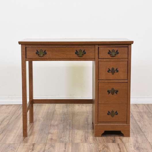 Vintage Wood Kneehole Desk