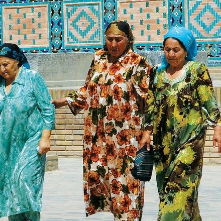 Local Uzbek women