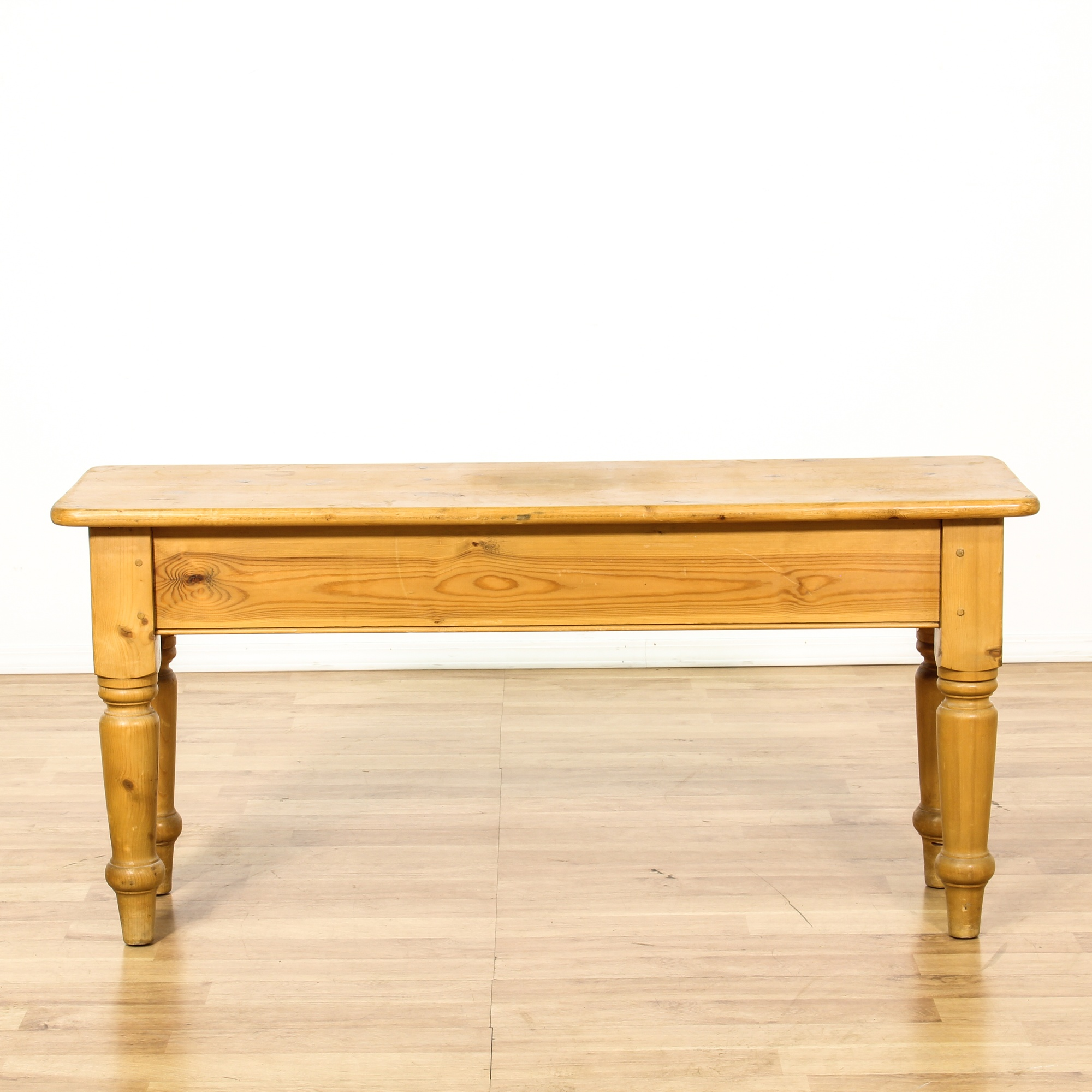Country pine 2 drawer console sofa table loveseat vintage furniture san diego los angeles - Pine sofa table with drawers ...