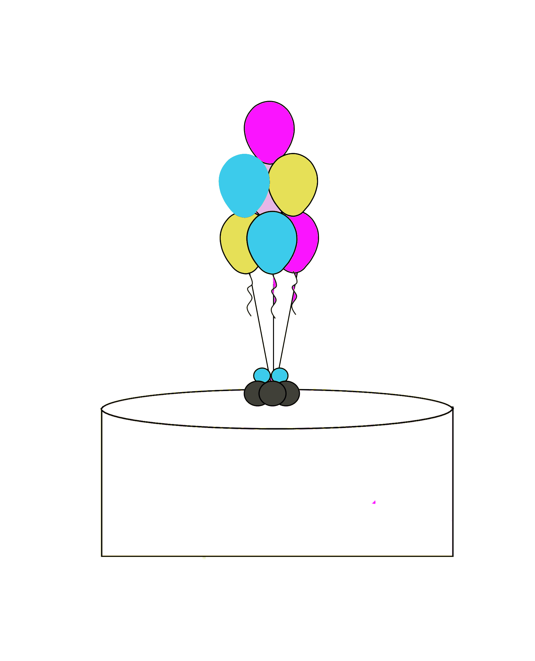 7 Latex Balloon Centerpeice