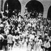Tomb of Nahum, Courtyard, Festivities (al-Qosh, Iraq, 1940s)
