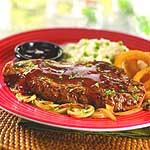 Steak with BBQ sauce