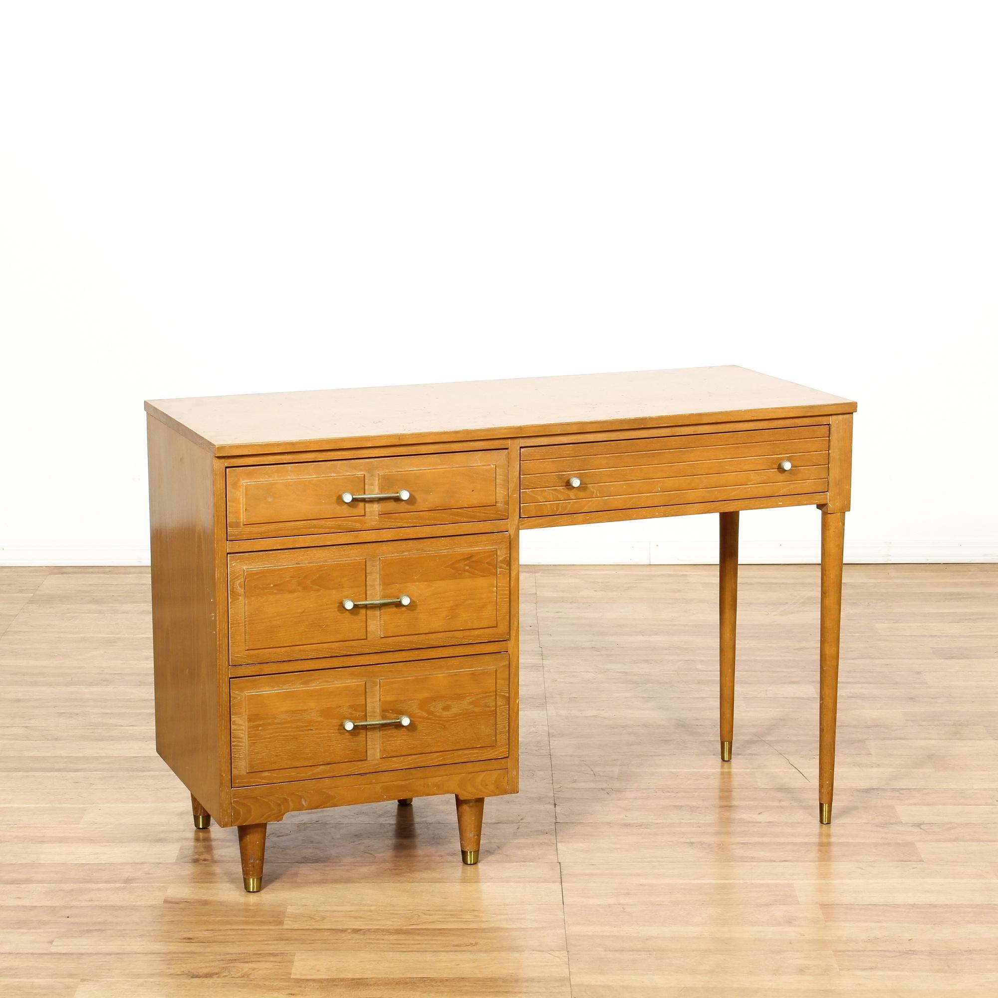 Mid century modern ash kneehole desk loveseat vintage for Mid century furniture san francisco
