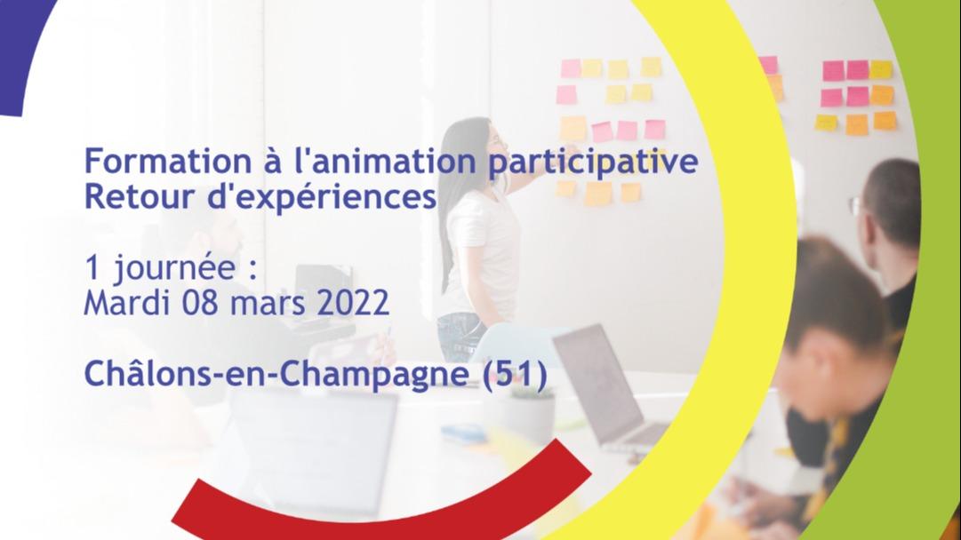 Représentation de la formation : L'animation participative - Retour d'expérience (volet 2)