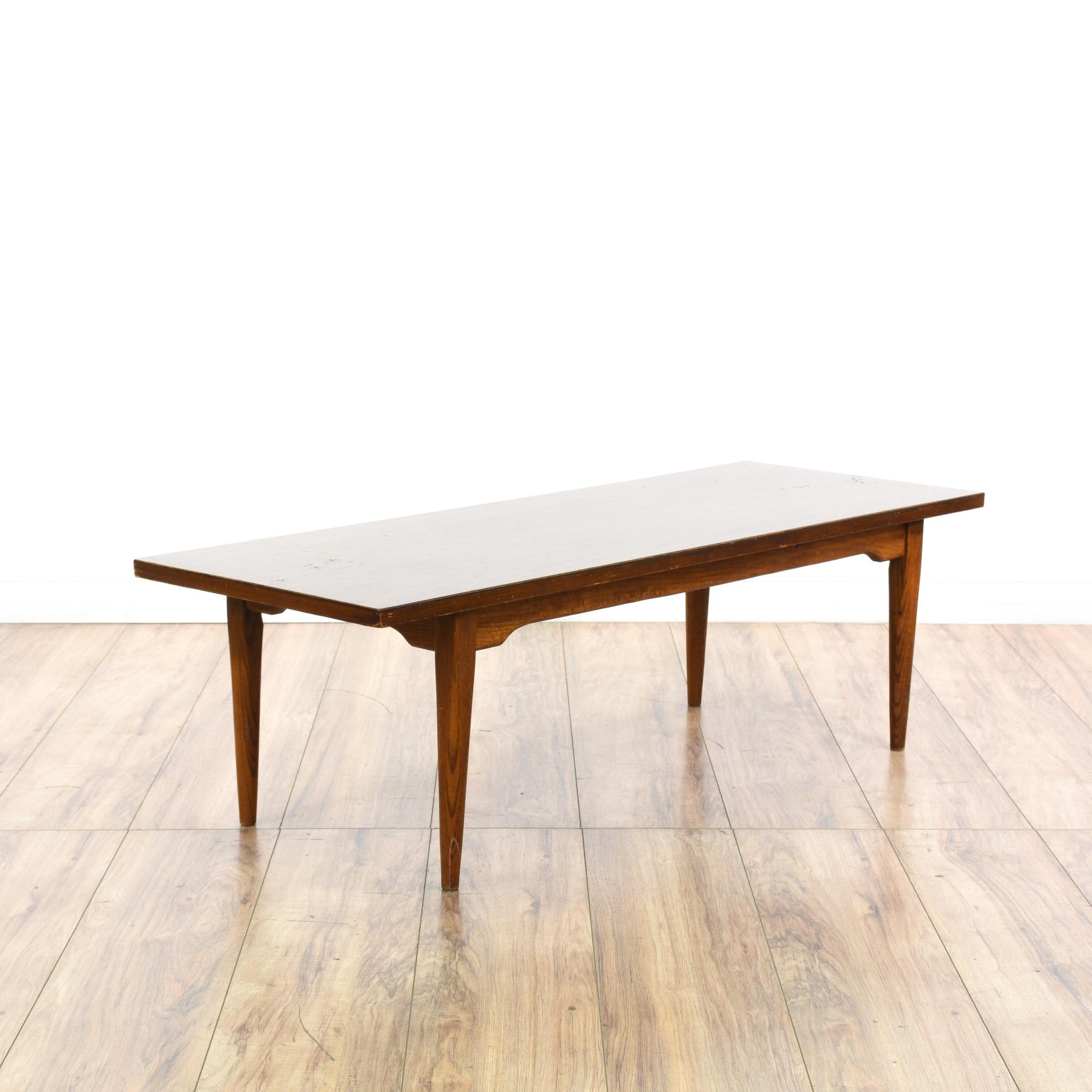 Mid Century Modern Walnut Coffee Table Loveseat Vintage Furniture San Diego Los Angeles