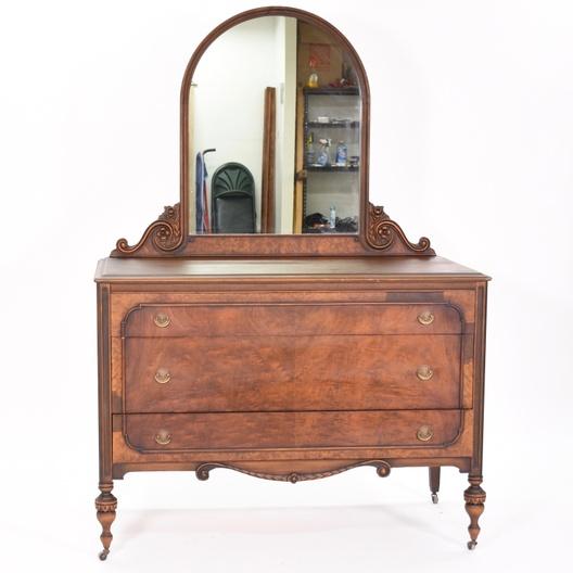 """Berkey & Gay"" Vintage 3-Drawer Dresser W/ Mirror"