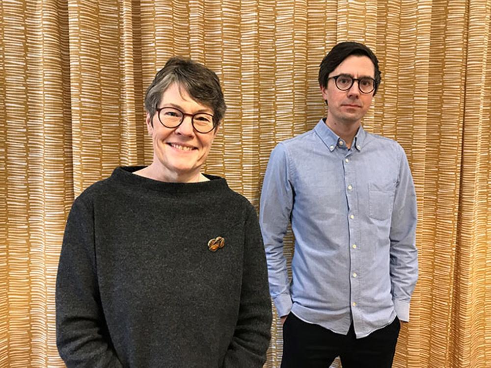 Katrina Rejman och Andreas Hedman, gästföreläsare i årets Bokprovning. Foto: Svenska barnboksinstitutet