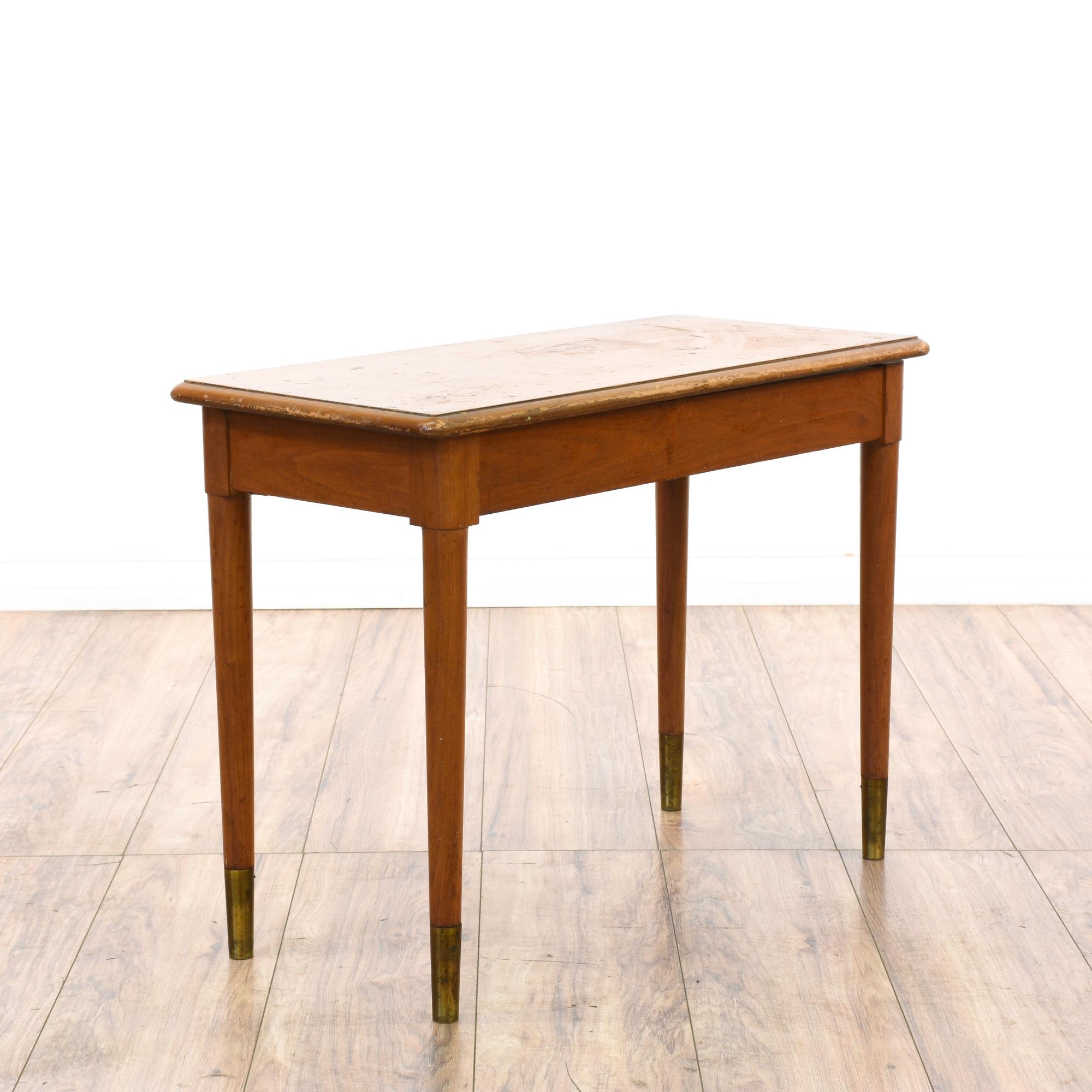 Mid century modern maple piano storage bench loveseat for Mid century modern la