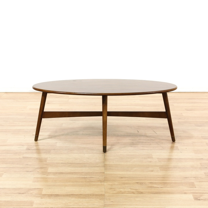 Oval Mid Century Modern Coffee Table