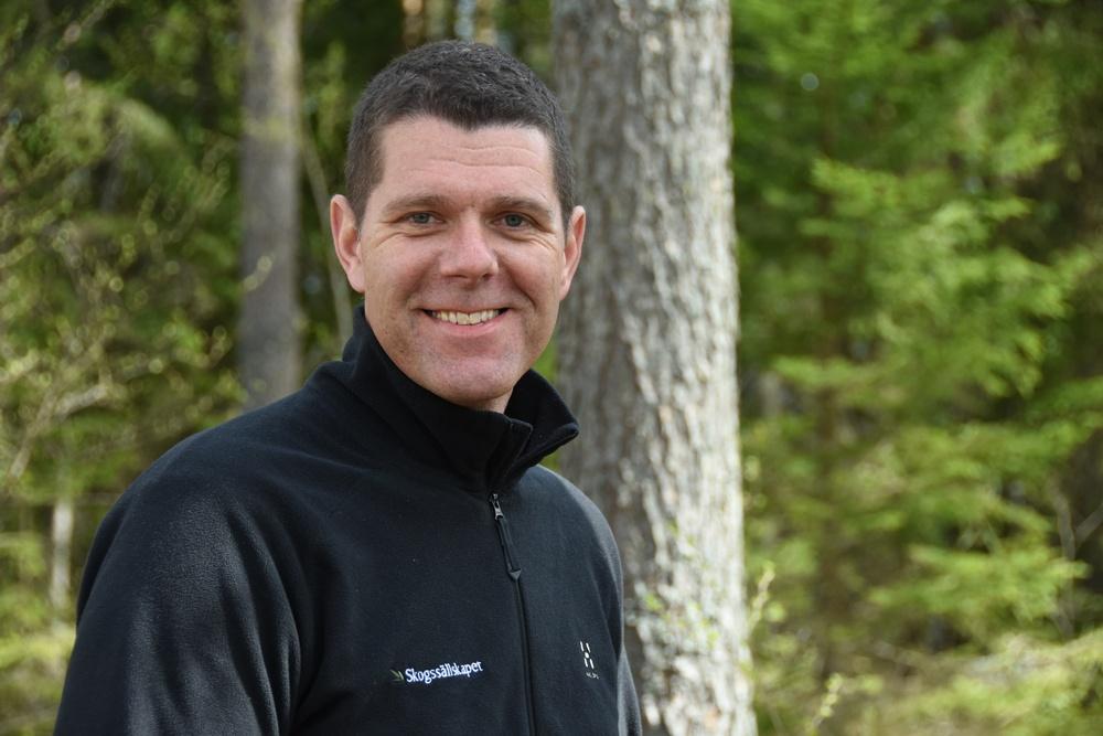 Mattias Berglund, skogsskötselchef på Skogssällskapet. Foto: Ulrika Lagerlöf/Skogssällskapet