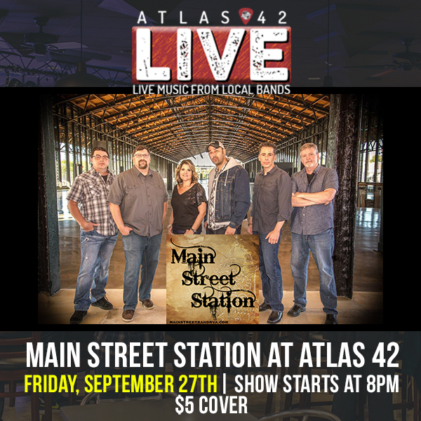 Atlas 42 - Main Street Station - September 27, 2019, 8pm