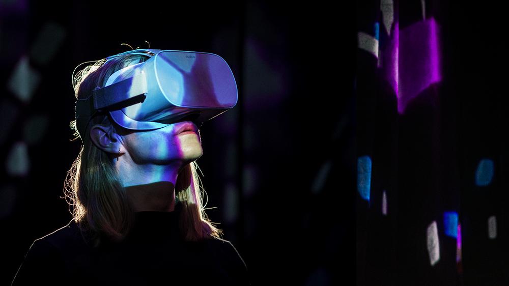 VR-upplevelse i Everybody Dance! på Scenkonstmuseet. Foto: Miki Anagrius