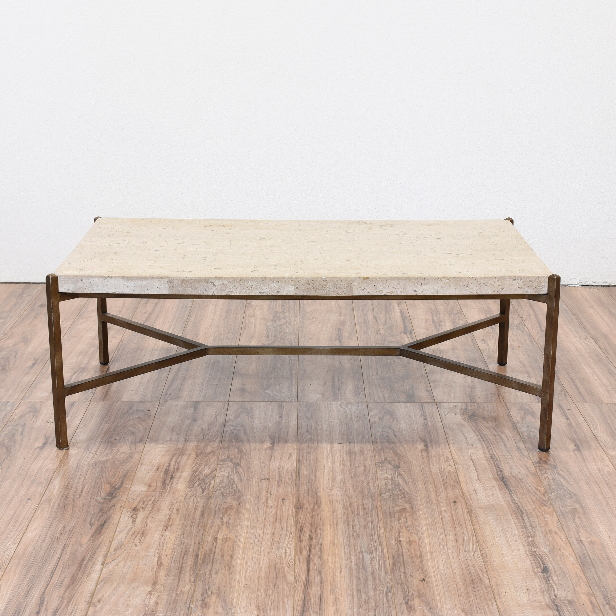 Thomasville Modern Stone Top Coffee Table Loveseat Vintage Furniture San Diego Los Angeles