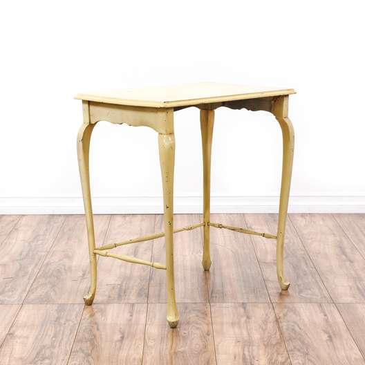Off White Cottage Chic Side Table