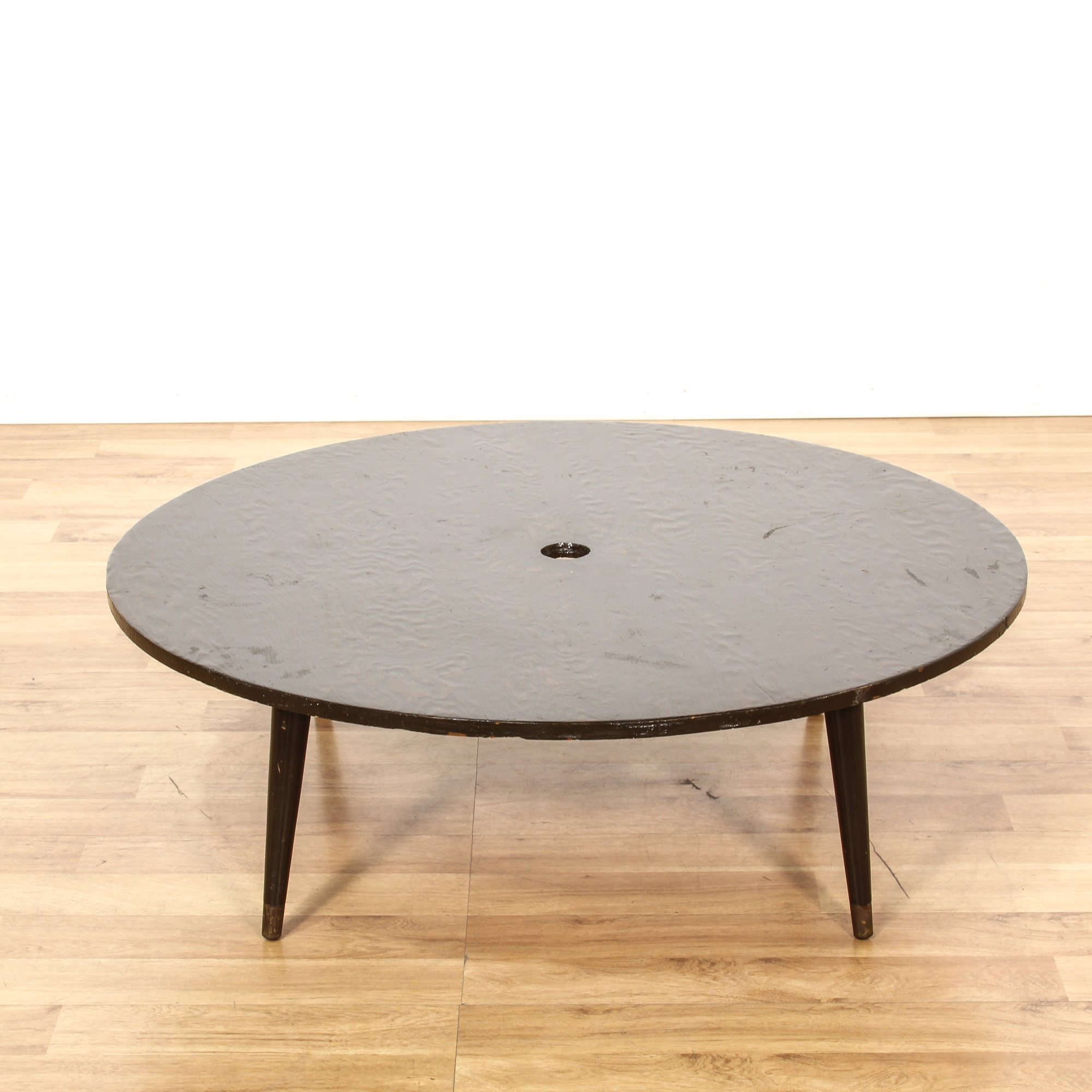 Mid Century Modern Low Round Coffee Table