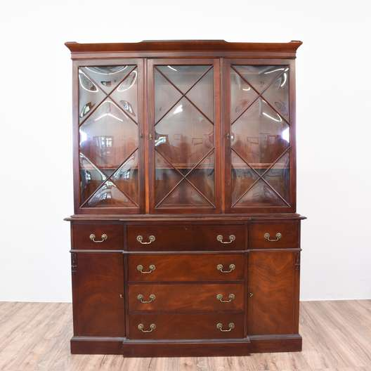 Bubble Glass Kitchen Cabinet Doors: Solid Wood 3 Door China Cabinet