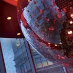 W London, Leicester Square, glitterball