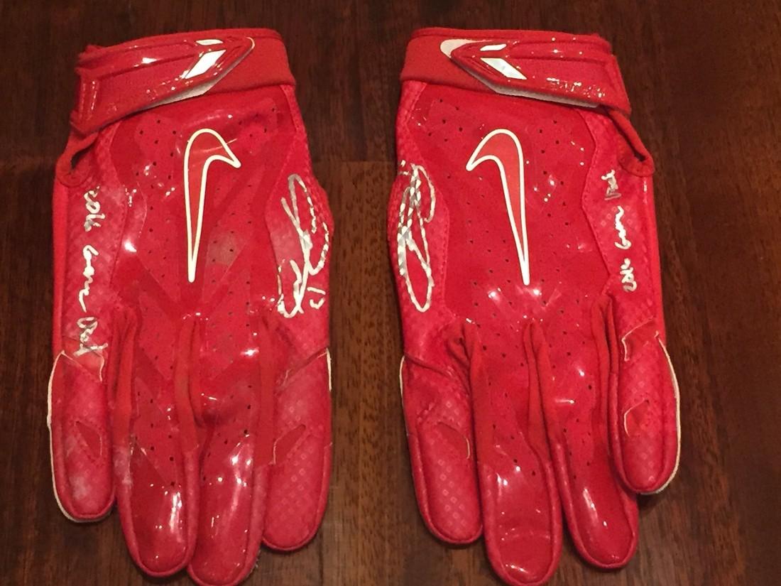 huge inventory 04d2d ca696 Odell Beckham Jr 2016 Game Used Autographed Gloves ...