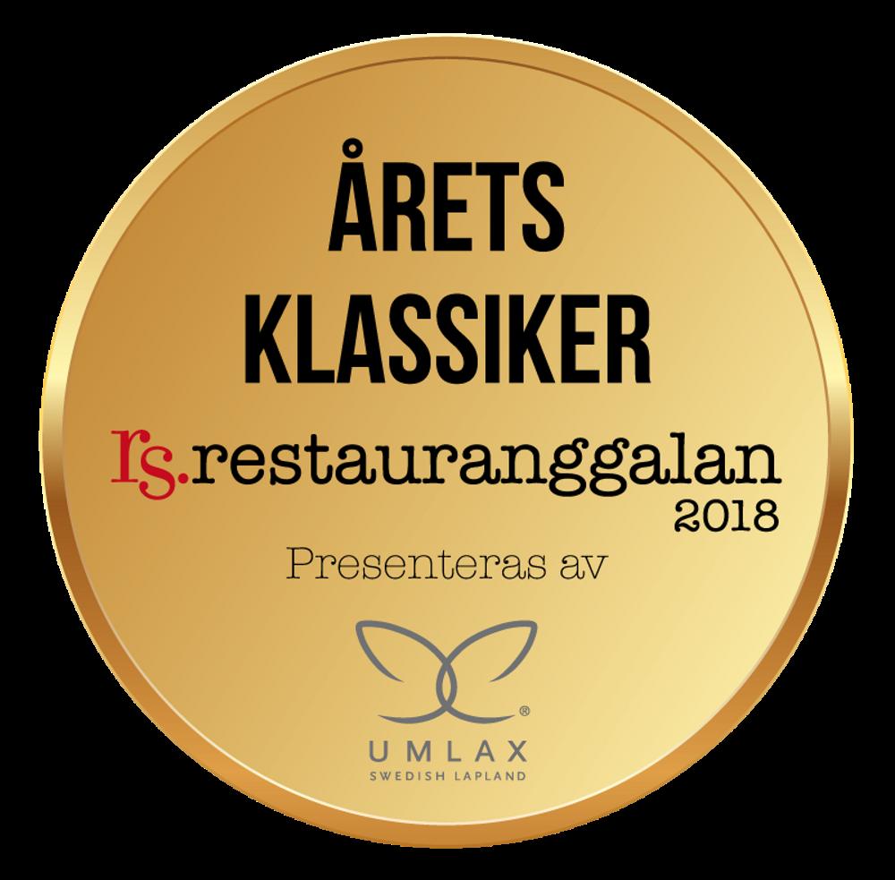 Partner Restauranggalan 2018 Årets Klassiker