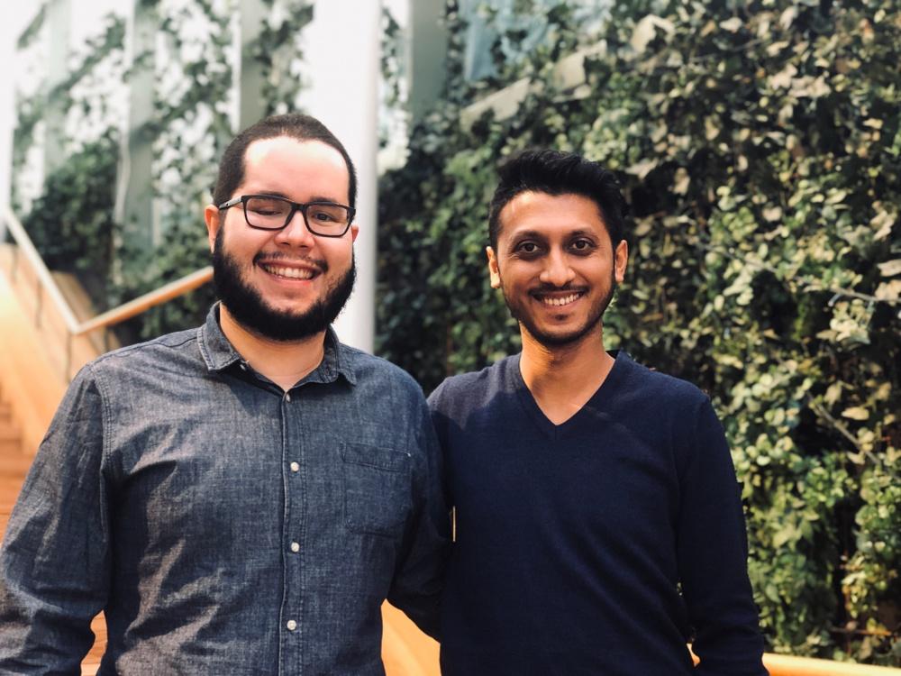 Entreprenörerna bakom VectorizeMove, från vänster: João Bentes & Siddaharta Khandelwal