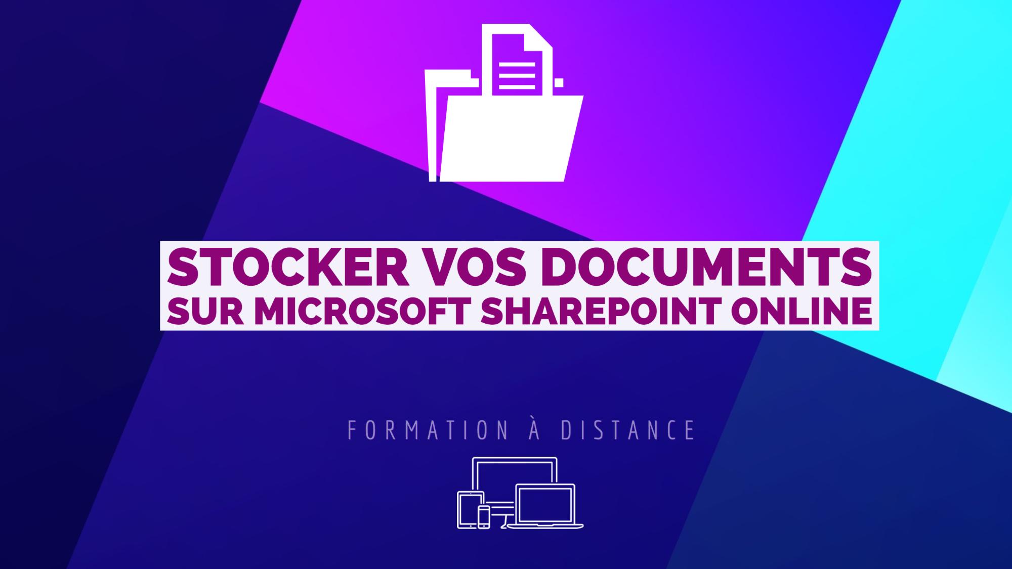 Représentation de la formation : TPE/PME : Stocker vos documents sur  Microsoft Sharepoint Online