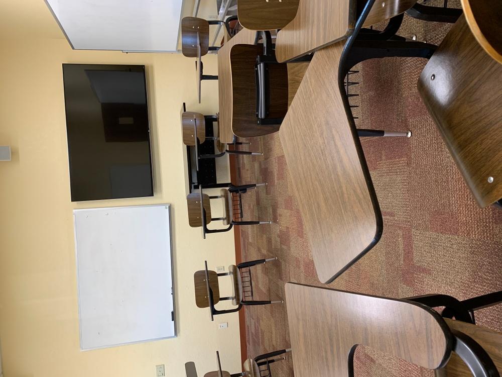 Ett av Rebecka Dahlgrens klassrum på Stetson University.