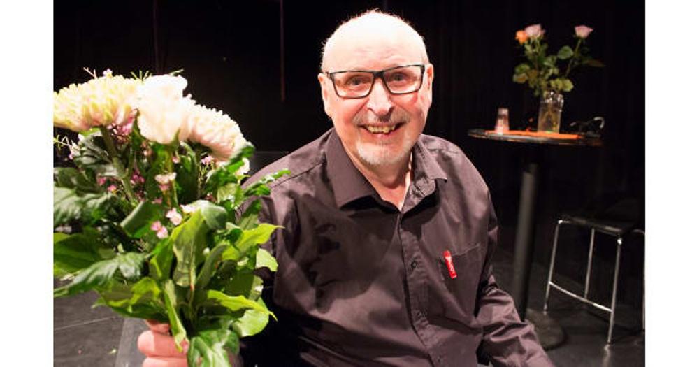 Melker Jonsson, vinnare av stipendiet Berättarkraft 2018. Finalen genomfördes under Berättarfestivalen 2018. Foto: Jonas Lundqvist.