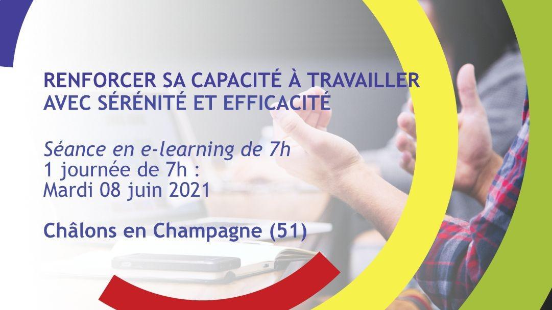 Représentation de la formation : Renforcer sa capacité à travailler avec sérénité et efficacité - Châlons-en-Champagne (51)