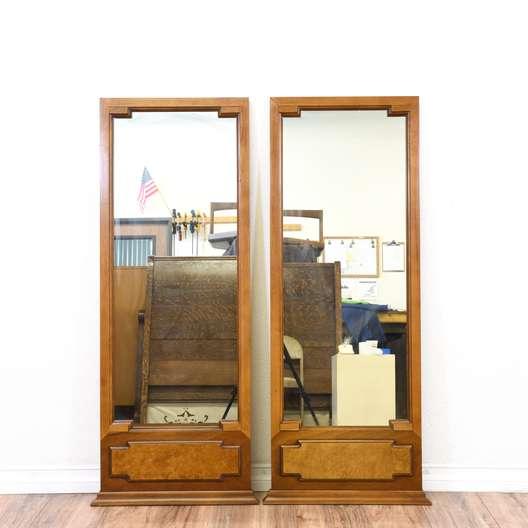 """Pair of """"Gardner"""" Full Length Framed Floor Mirrors"""