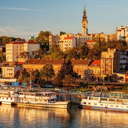 View over the River Sava in Belgrade, Serbia