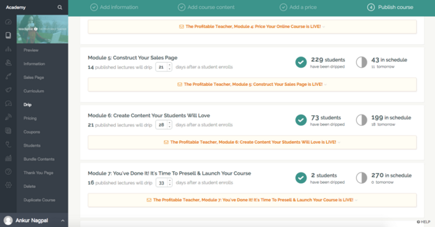 This month's product updates to help you create and sell an online course with Teachable: Drip