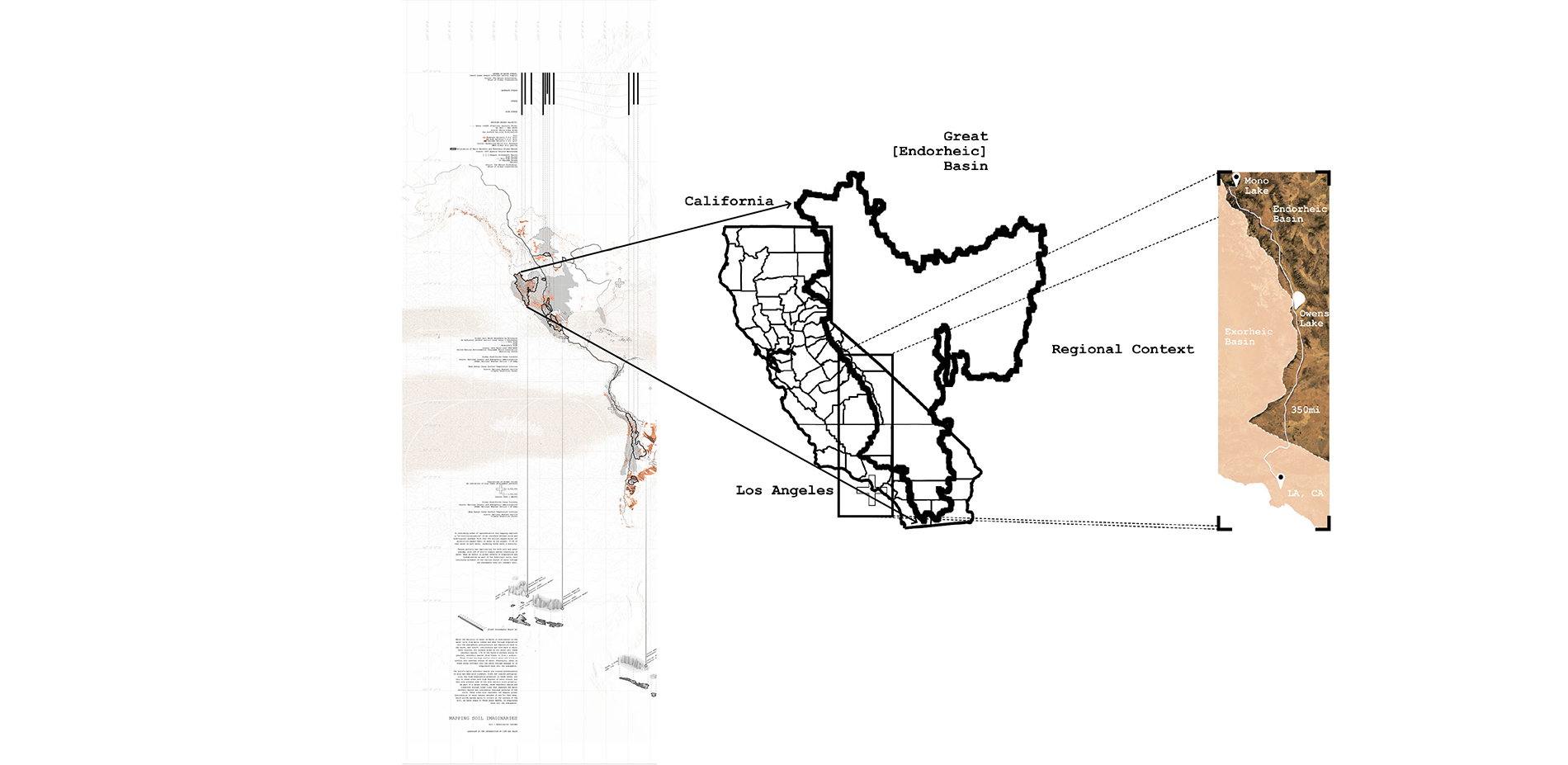 Territorial Context: Situating The Great [Endorheic] Basin + Owens Valley in reference to Los Angeles, CA