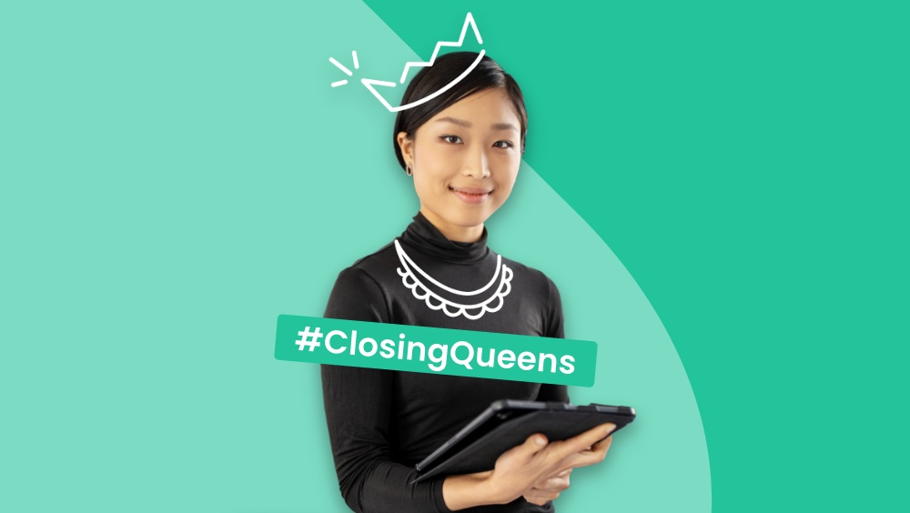 One of the personas of the campaign #ClosingQueen
