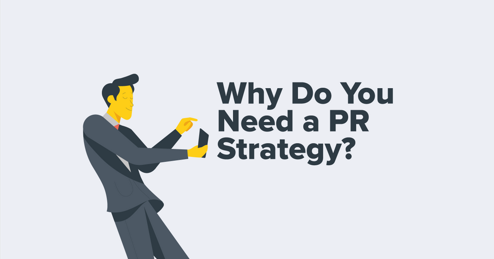 Man in suit. Grey. Why Do You Need a PR strategy? Blog.