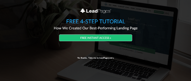 leadpages, lead nurturing call to action example