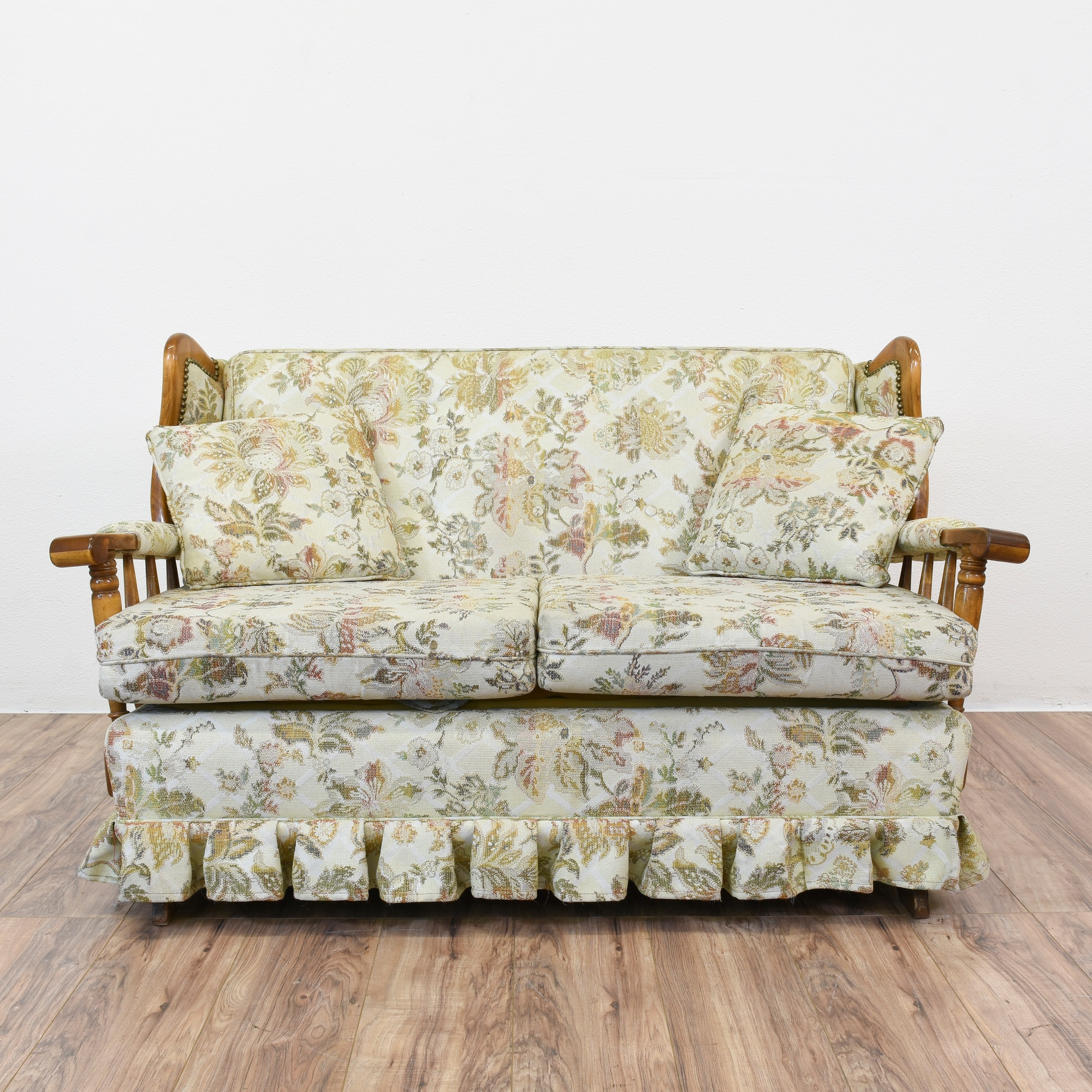 Floral Country Rocking Sofa Loveseat Loveseat Vintage Furniture San Diego Los Angeles
