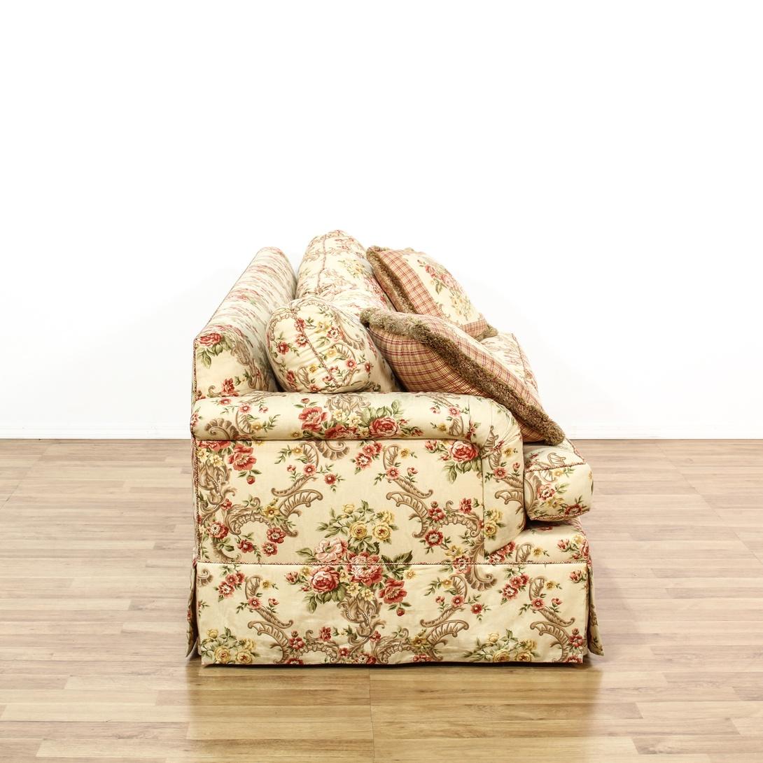 Floral Upholstered Sleeper Sofa Bed Loveseat Vintage Furniture San Diego Los Angeles