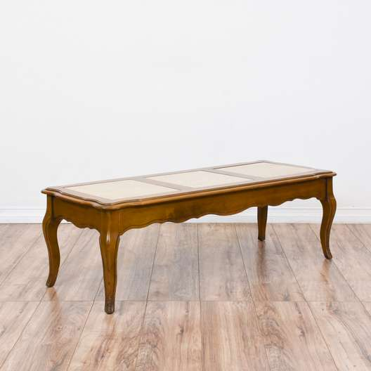 French Provincial Stone Top Coffee Table