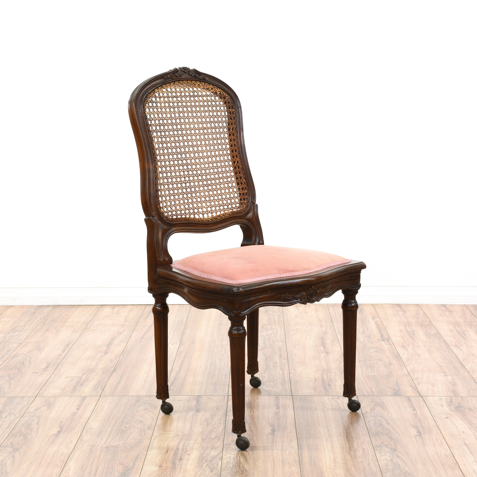 Dining Room Furniture San Diego: Pair Of Cane Back Dining Chairs