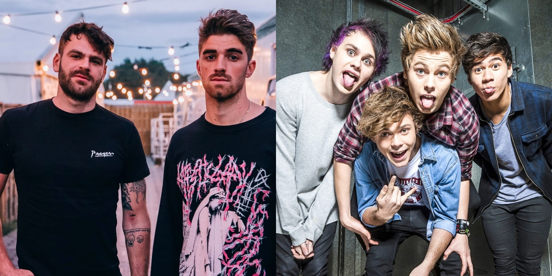 The Chainsmokers and 5 Seconds Of Summer battle each other for blazing glory in new music video for 'Who Do You Love' – watch