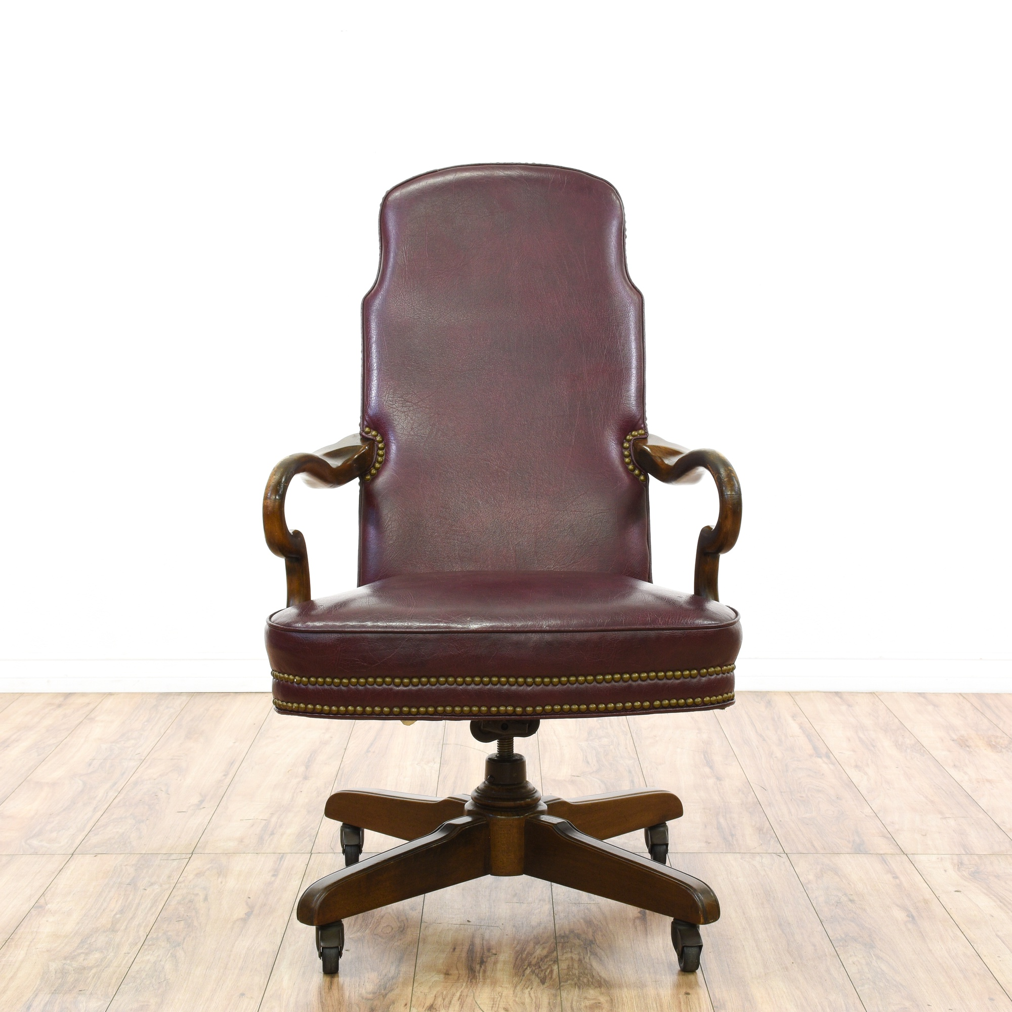 quot ethan allen quot wine leather office chair loveseat
