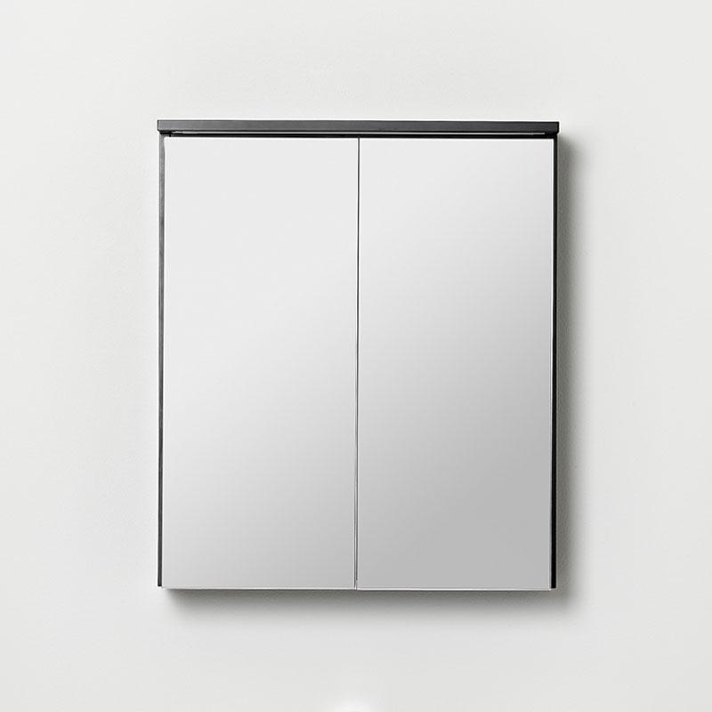 Afton/Gryning speilskap 600 sort