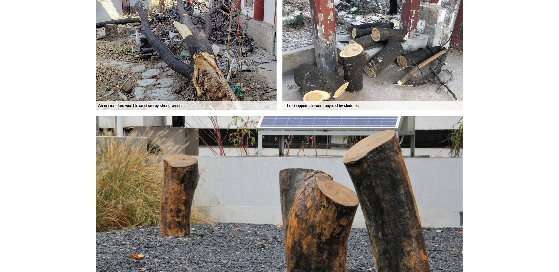 Recycled Stakes as Informal Seats