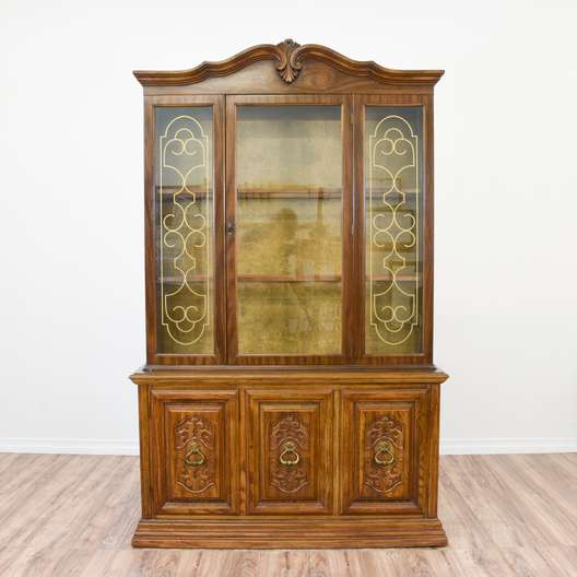 Forsyth Art Deco Kitchen Interior Design San Diego: Vintage Art Deco Waterfall China Cabinet