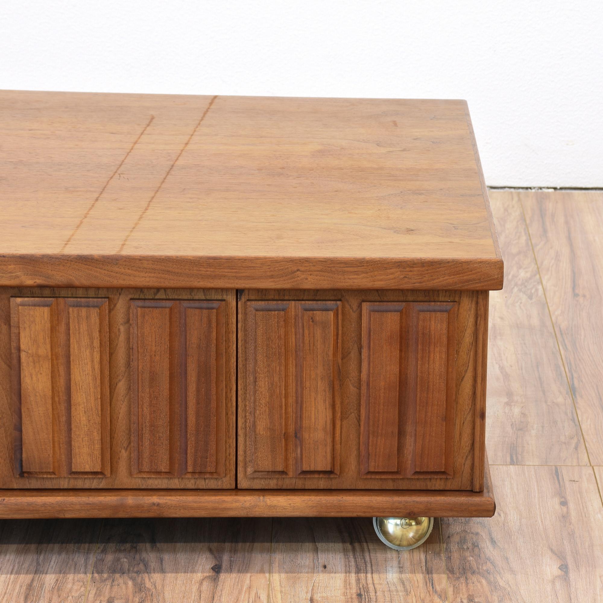Mid Century Modern Rolling Coffee Table Loveseat Vintage Furniture San Diego Los Angeles