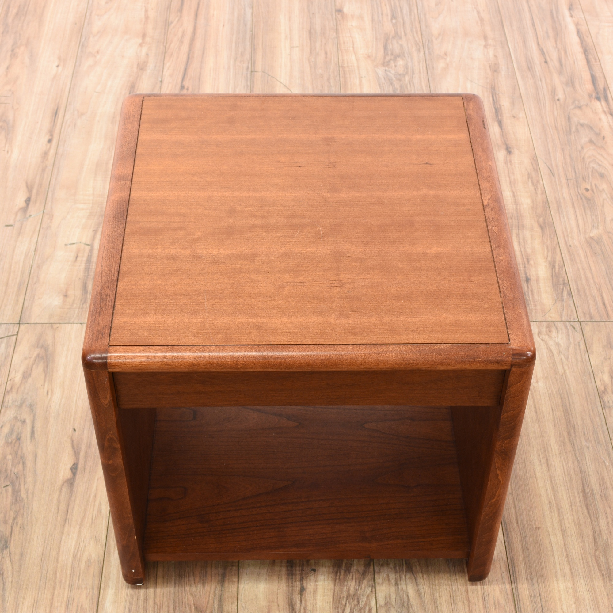 Solid Cherry End Table Cabinet Loveseat Vintage Furniture San Diego Los Angeles