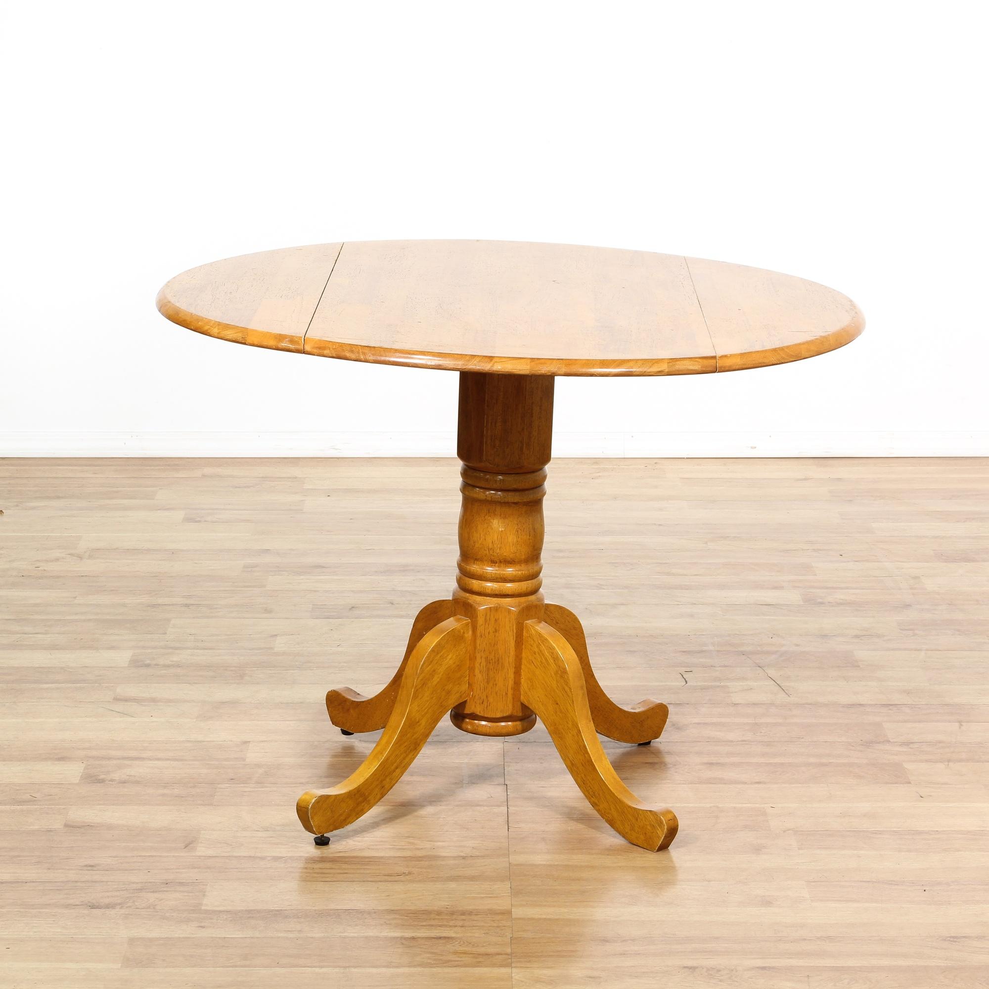 round pedestal double drop leaf table loveseat vintage furniture san diego los angeles. Black Bedroom Furniture Sets. Home Design Ideas