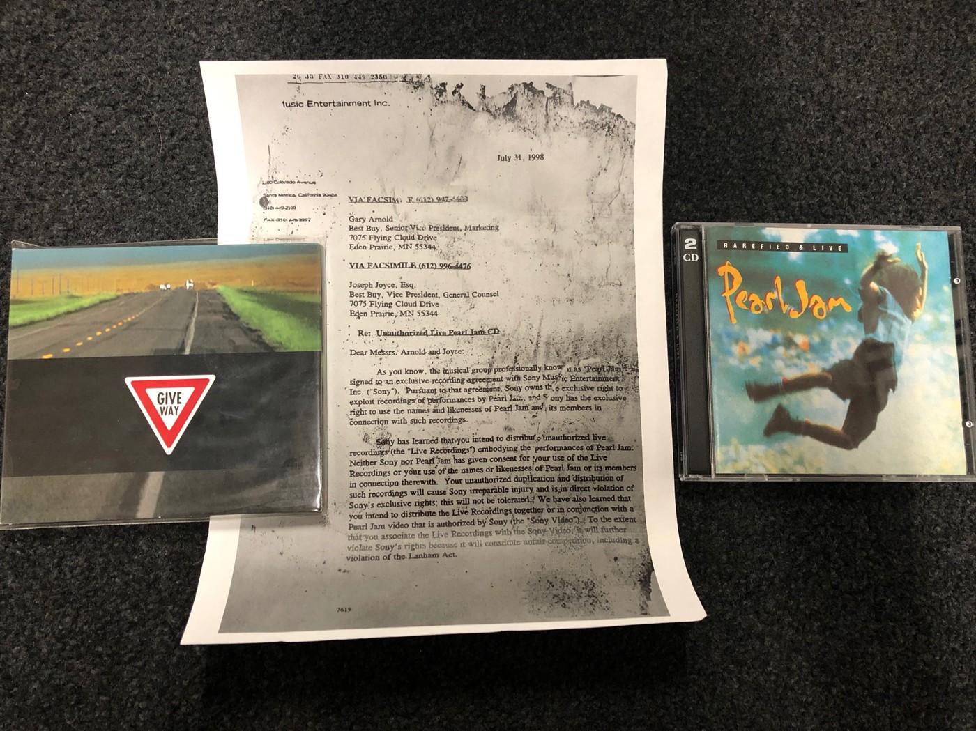 Pearl Jam Australia 1995 & 1998 Bootlegs 'Rarefied & Live' 'Give Way