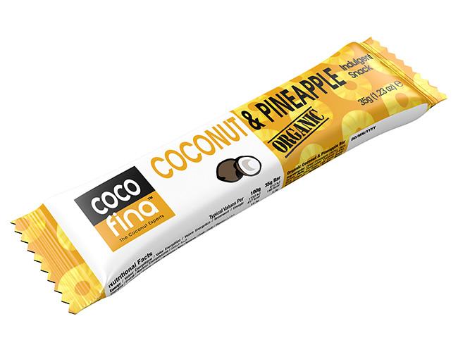 Cocofina Organic Coconut & Pineapple Snack Bar