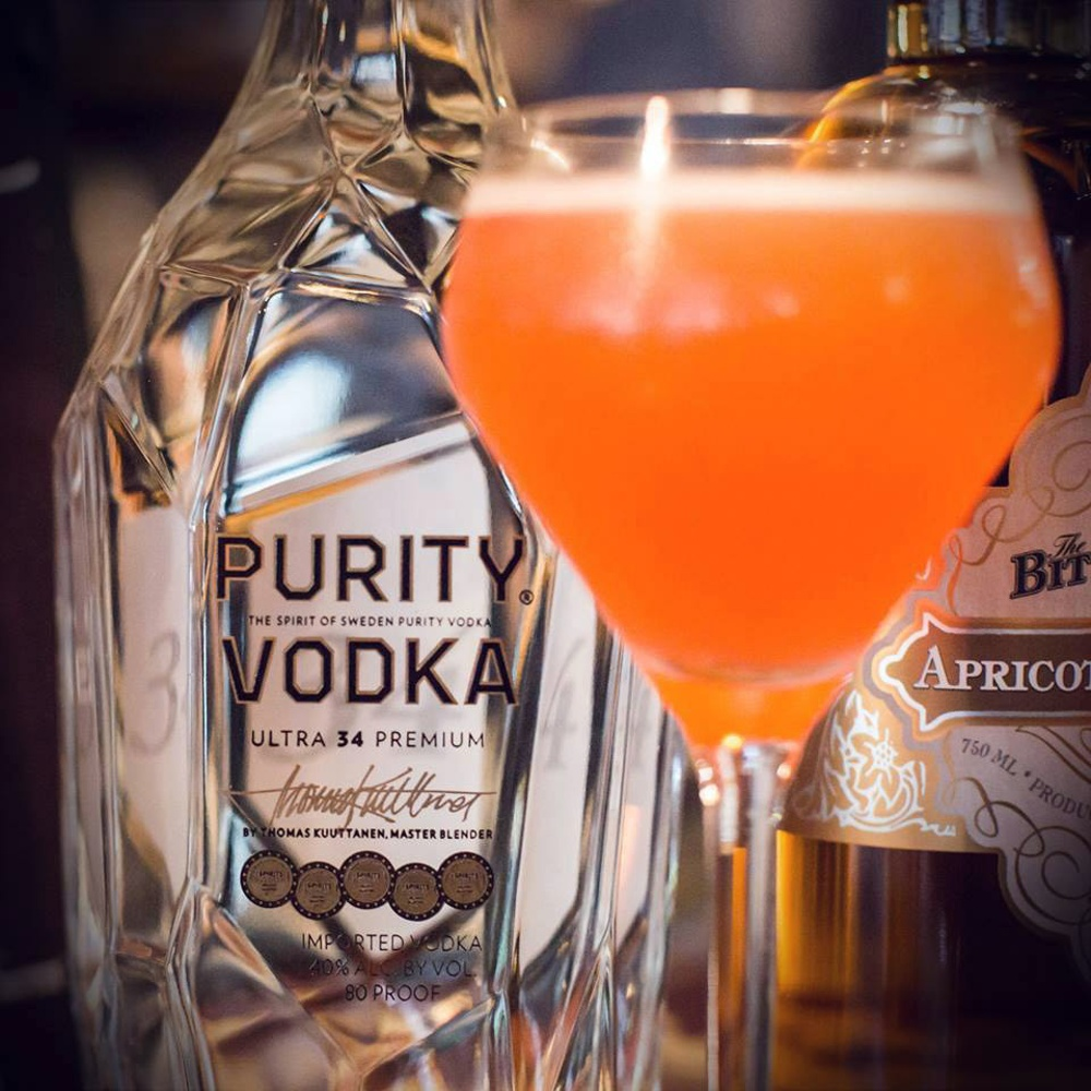 Fantastic Purity Vodka peachy drink